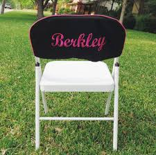 Custom Embroidered Slip Cover For Folding Chair, Good For A ...