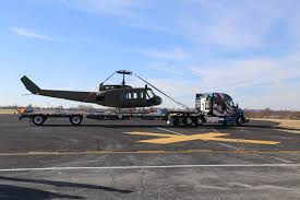 100 Melton Trucking Handily Transports Huey Helicopter From Bristow To Tulsa For