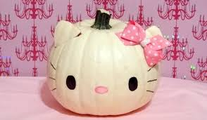 Halloween Faces For Pumpkins Painted by Hello Kitty Pumpkin Youtube