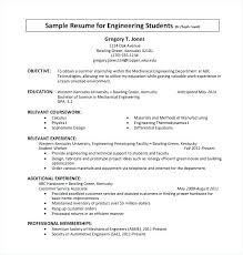 Internship Sample Resume Objective Resumes Format Standard Professional Samples For Summer Intern
