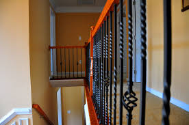 Wrought Iron Stair Spindles Railings : Stylish Wrought Iron Stair ... Wrought Iron Stair Railing Idea John Robinson House Decor Exterior Handrail Including Light Blue Wood Siding Ornamental Wrought Iron Railings Designs Beautifying With Interior That Revive The Railings Process And Design Best 25 Stairs Ideas On Pinterest Gates Stair Railing Spindles Oil Rubbed Balusters Restained Post Handrail Photos Freestanding Spindles Installing