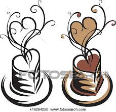 Clipart Of Heart Shaped Cup Coffee K16264250