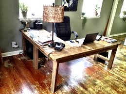 Rustic L Shaped Desk For The Office Pinterest Desks Diy Best Computer Plans Looking With Wood