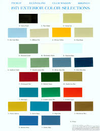 100 Ford Truck Colors Decoding Your 1971 VIN FORDificationcom