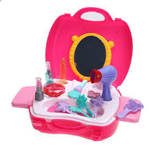 Pink Tool Box Dresser by Simulation Cosmetic Case Baby Kids Girls Makeup Tool Kit Box