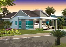 Simple Single Level House Placement by Single Story Bungalow House Plans Malaysia Building Plans