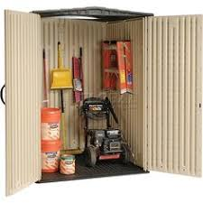 Rubbermaid Medium Vertical Storage Shed by Rubbermaid 4 Ft 3 In X 4 Ft 5 In W Medium Vertical Plastic