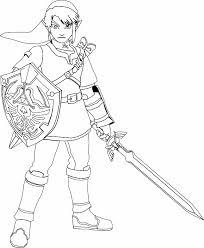 Legend Of Zelda Link Coloring Pages 249273 609x