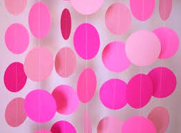 Birthday Decorations Diy Decoration Pink Party Paper Garlands For Ideas Mom Favors