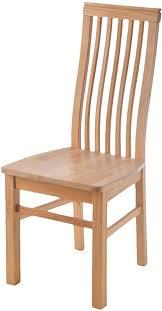 acerto arezzo massivholz stuhl buche geölt für küche esstisch ohne polster mit hoher lehne