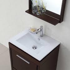 Best Bathroom Vanities Toronto by Buy Parma 24 In Single Bathroom Vanity Mirror Set In Iron Wood