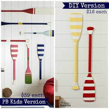 decorative oars and paddles pottery barn diy knockoff oar decor the happy housie