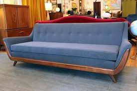 Vintage Mid Century Modern Furniture Sectional Sofa Caring an