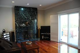 Living Room With Fireplace Design by Awe Inspiring Black Marble Wall Panels As Decorate Rustic