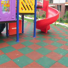 outdoor playground rubber safety tiles 30mm thick rubber flooring