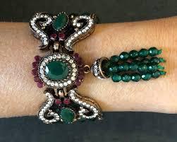 100 Missoni Sydney Strand Bracelet Jewel Emerald Ruby Stones