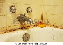 schmutziges bad v eine schmutzige badewanne mit schimmel