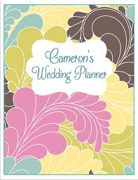 Items Similar To Chic Personalized Wedding Planner Binder Cover Dividers On Etsy