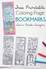 Free Printable Coloring Valentine Bookmarks Page Lesson Plans