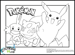 Pikachu And Friends Coloring Pages