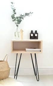 side table bedside table with l attached medium sizeideas end