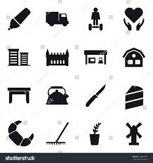 100 Seedling Truck 16 Vector Icon Set Marker Stock Vector Royalty Free