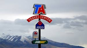 100 T A Truck Stop Ontario California Trucks Wiggins Rd Candler NC Ravel Directory Rucking 411