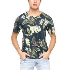 100 Coco Replublic Republic Mens Mixed Floral Tee In Dark Blue