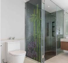 duschkabinen folie bambus und blumen