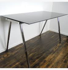 Ikea Galant Corner Desk Left by Ikea Galant Adjustable Height Glass Standing Desk Work Table Ebth