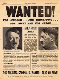 Hitler Wanted Poster 1939