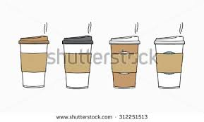 Isolated Disposable Coffee Cup Vector Icon
