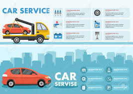 100 Tow Truck Clipart Infographics Of Car Service With Image Of And Car Vector