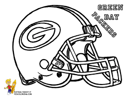 Green Bay Football Coloring Pages
