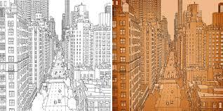 Coloring Book Adults Fantastic Cities Steve Mcdonald 22