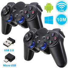 2 Pack 2 4G Wireless Gaming Controller Gamepad for Android Tablets Phone PC TV