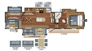 Travel Trailer Floor Plans With Bunk Beds by 100 Jayco 5th Wheel Toy Hauler Floor Plans 2017 Jayco