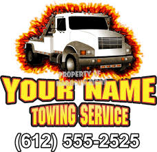 Salvage Tow Truck Custom Vinyl Decal 24