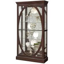 Pulaski Glass Panel Display Cabinet by Amazon Com Pulaski P021569 Sable Oval Framed Mirrored Curio