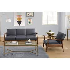 Kebo Futon Sofa Bed Amazon by Better Homes And Gardens Flynn Mid Century Chair Wood With Linen
