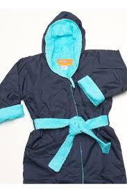 Rappco Waterproof Hooded Toweling Robe 3 9 Yrs