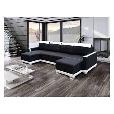 canapé noir et blanc générique canapé d angle u convertible funto noir et blanc 295cm x