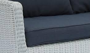 canape resine tressee exterieur canapé de jardin 2 places en résine tressée blanche madera