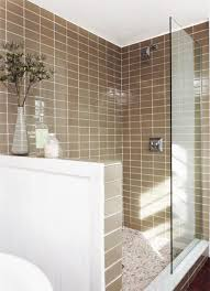 lush 3x6 glass subway tile installation traditional bathroom