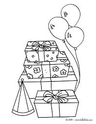 Birthday Gifts Coloring Page