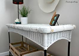 My Painted Wicker and Wrought Iron Table makeover Creatively Living
