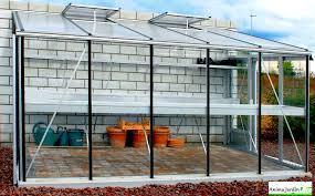 serre jardin adossée murale en verre trempé aluminium 3 80m