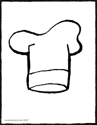 Chefs Hat Colouring Page 01V