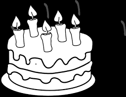 Birthday Black and White Clipart