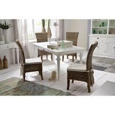 chaises en osier chaise en rotin avec coussin royan haut dossier